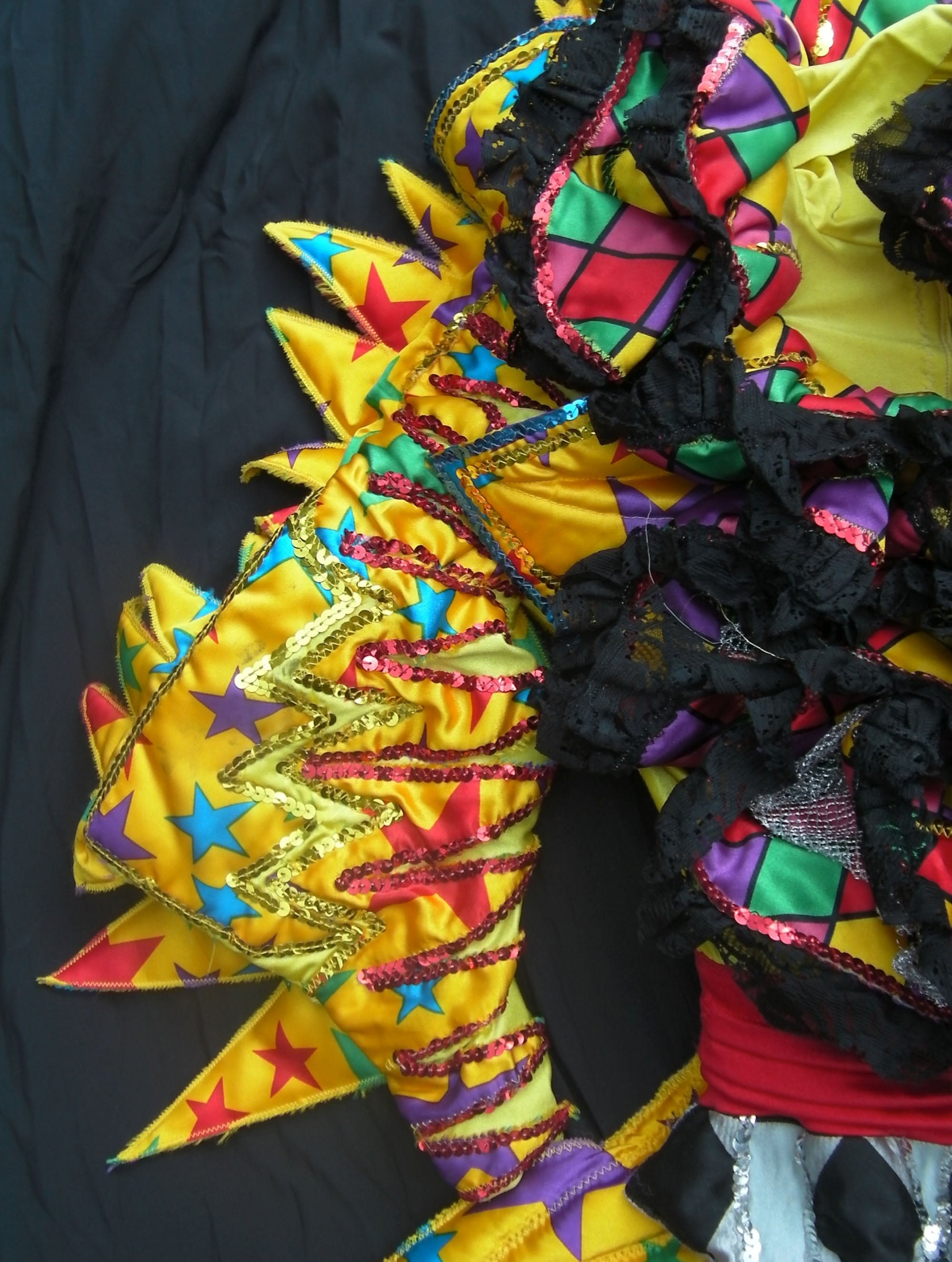 Detail from the 'Scrimple' costume