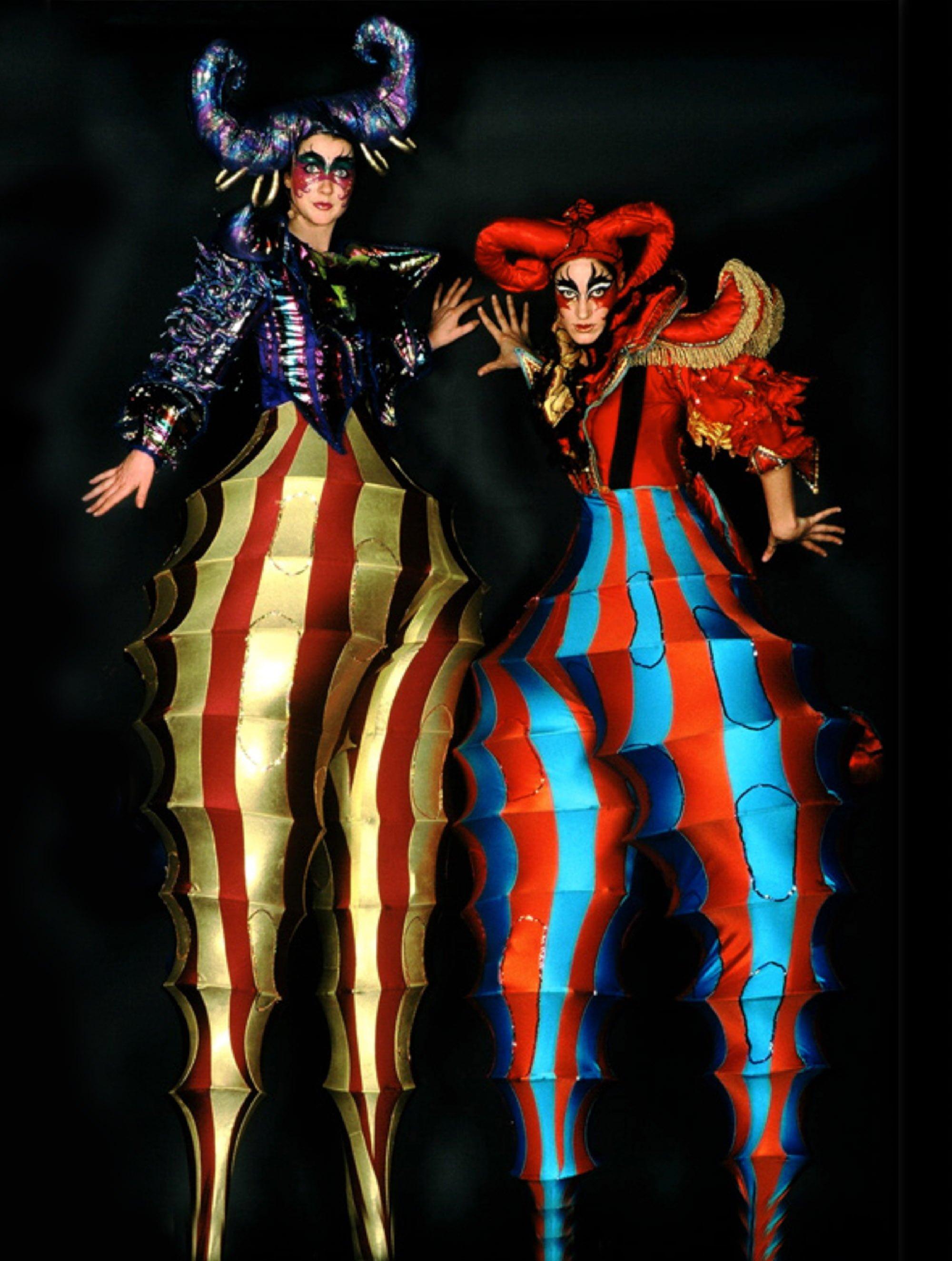 Sideshow Barb Costume on Stilts