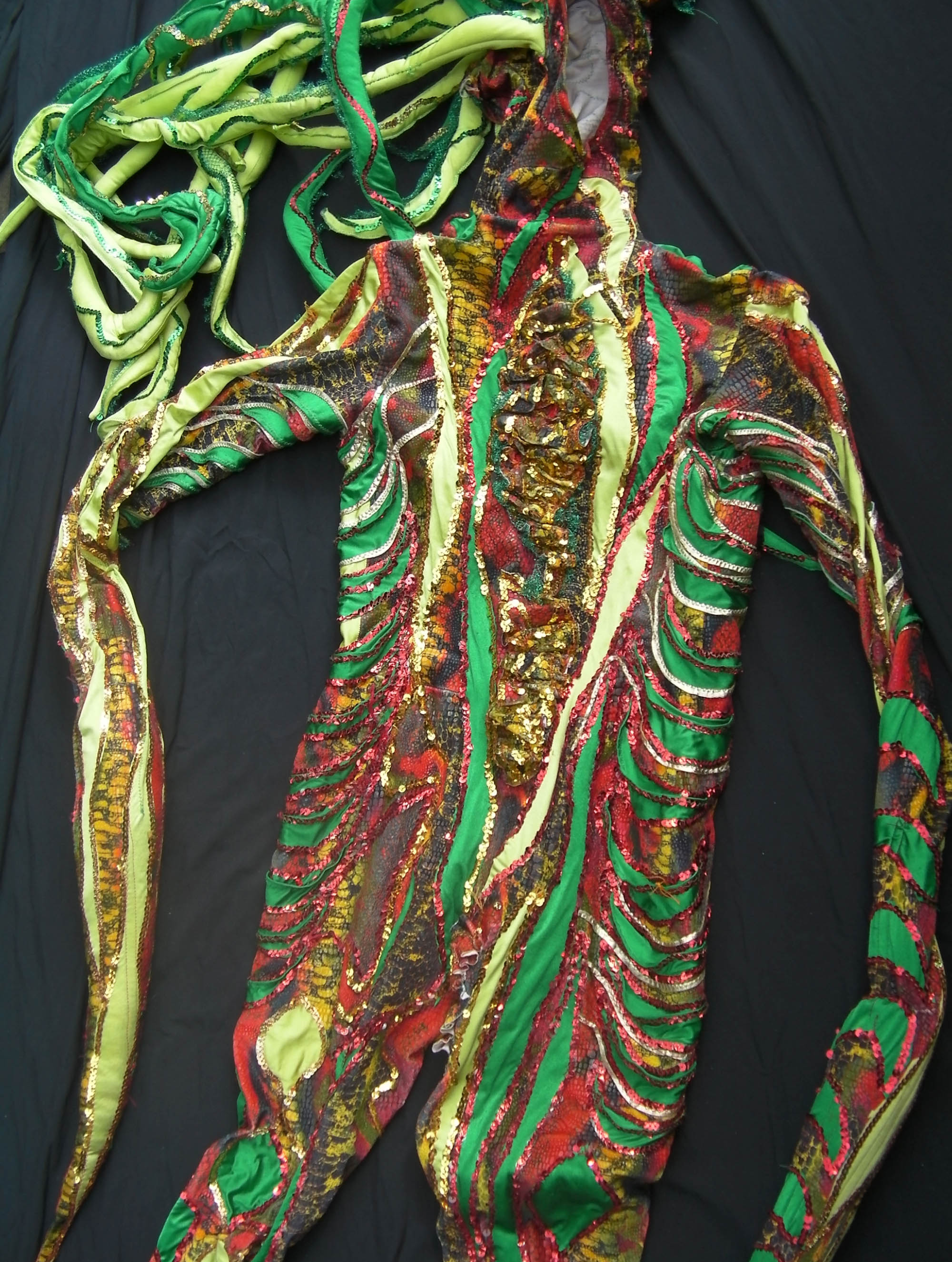The costume 'Snake woman' from the show 'Rubicon'
