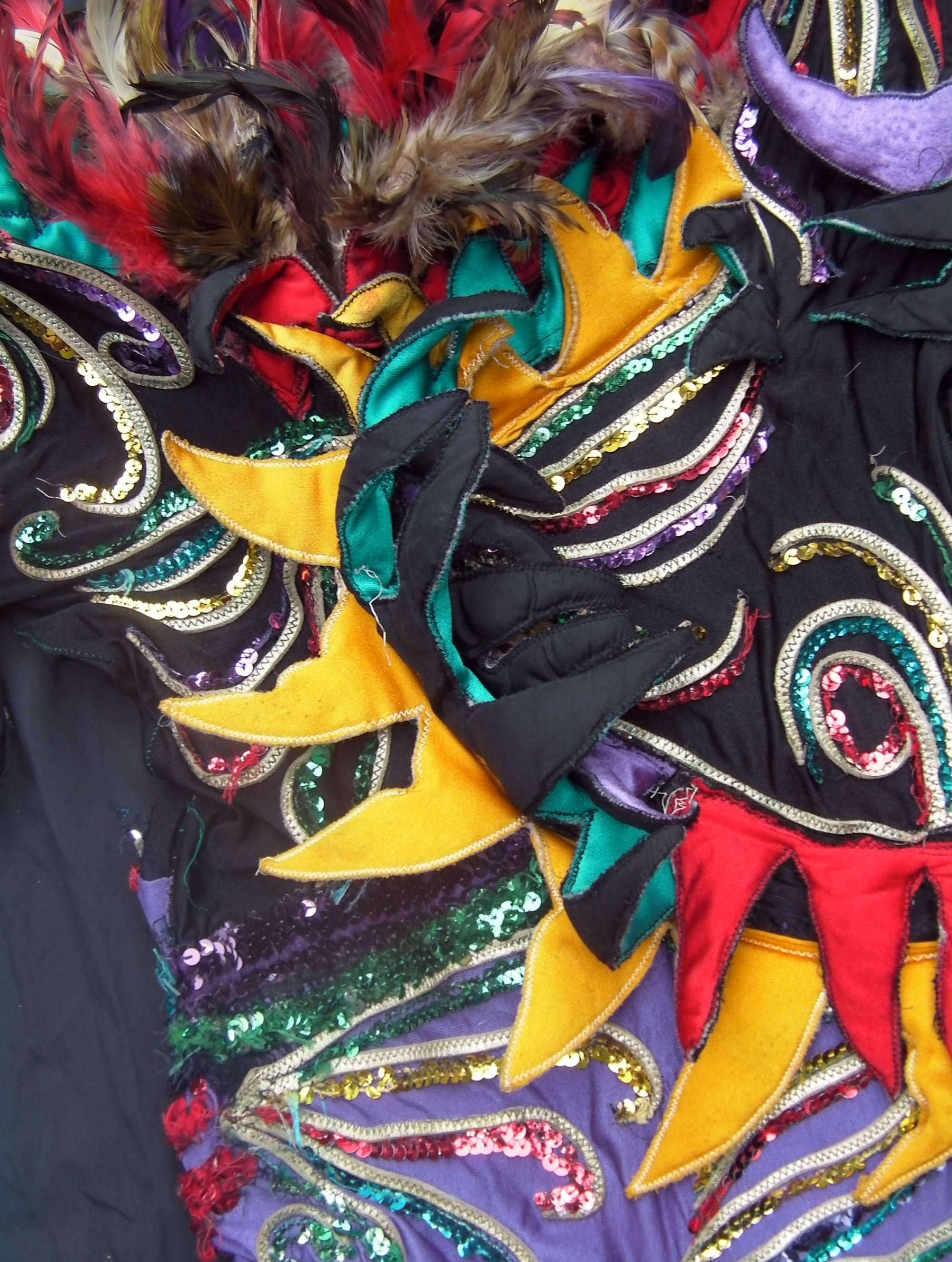 A detail of the Firebird costume