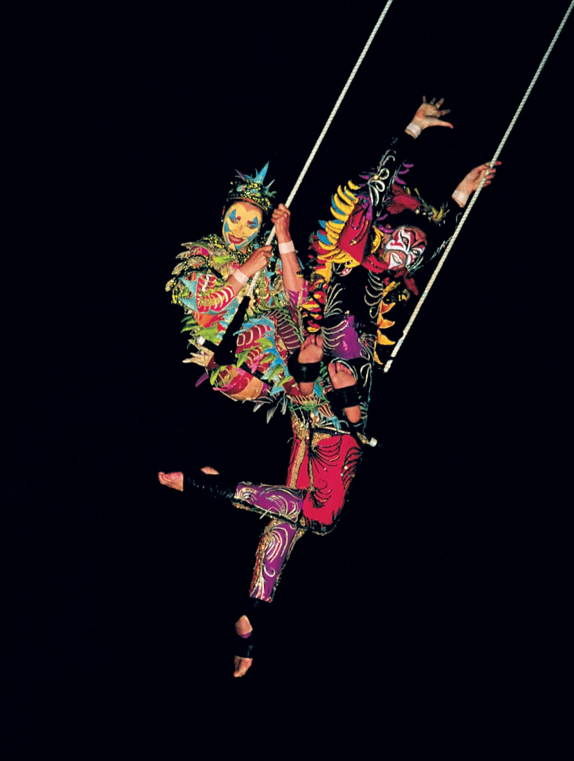 In the Air, the chameleon costume in action
