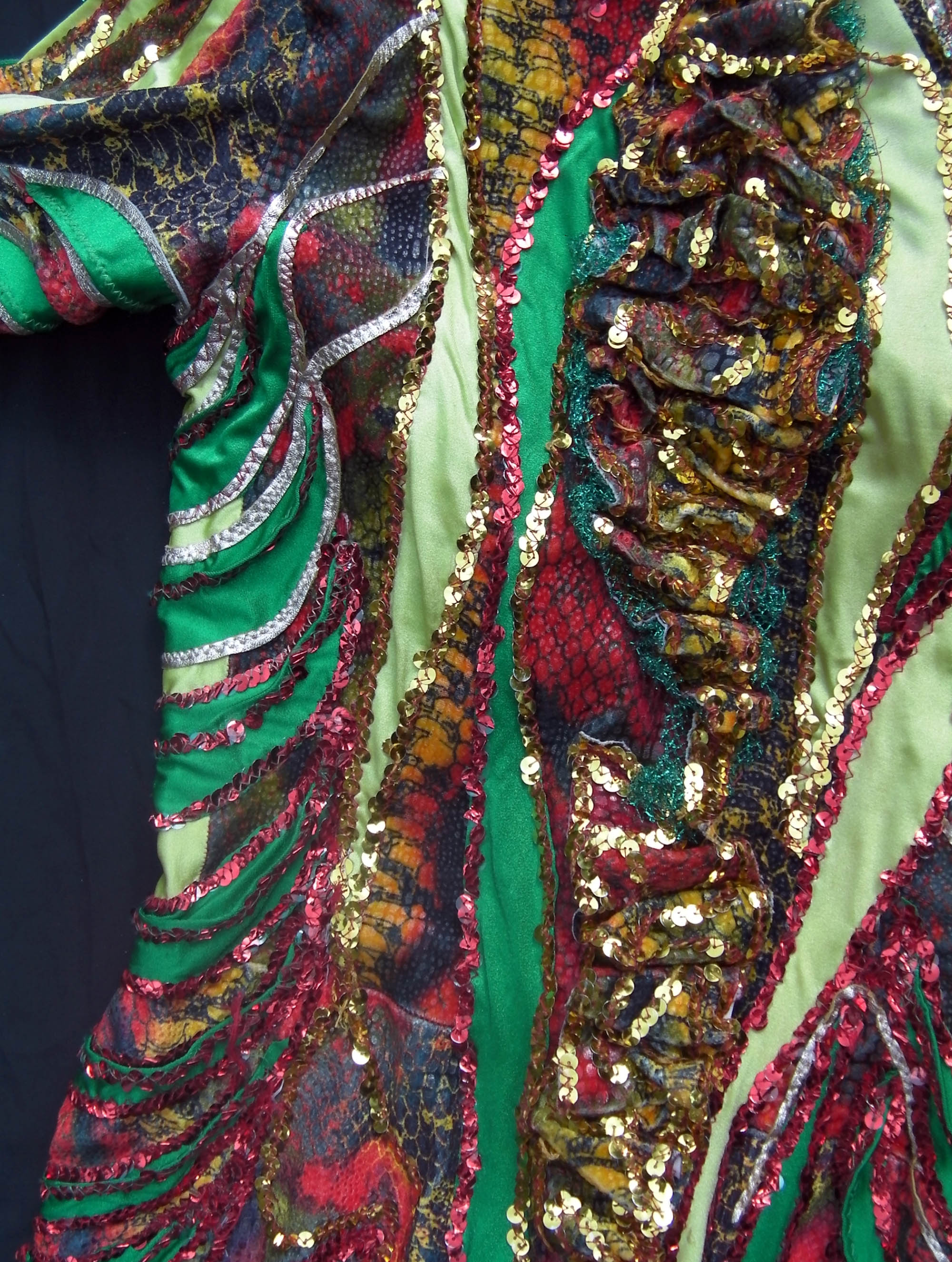 A detail from the costume 'Snake woman' from the show 'Rubicon'